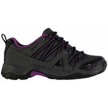 Gelert Ottawa Low Walking Shoes Charcoal/Purple