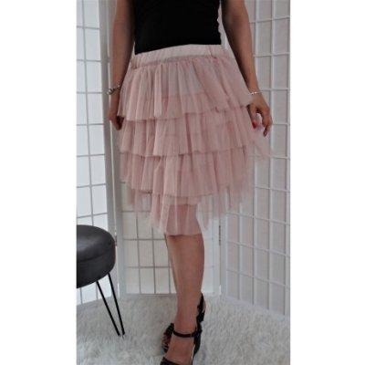 Krátká tylová sukně růžová Vionnetta TS1447