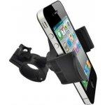 Držák mobilu na kolo, nastavitelná šířka, černý, plast, No Name, kloubový,