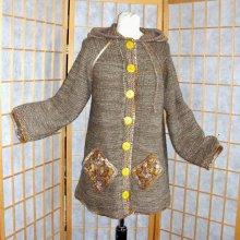 Kabátek kapucí khaki