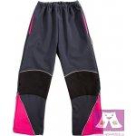 9c1aa947632 Veselá nohavice Dětské softshellové Kalhoty celoroční šedo-růžová