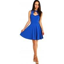 dd196a784a75 Áčkové společenské šaty na ples modrá