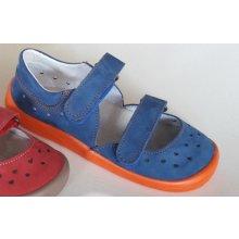 Beda Barefoot Sandály BF 0001 SD W modrá oranžová 7bf44f23d6