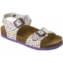 8e5df5e8cc65 Scholl SMYLEY KID bílé barevné dětské zdravotní pantofle s páskem