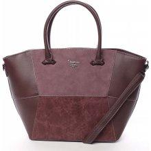 Jedinečná dámská kabelka do ruky Vanessa vínově červená 01b19dfbde6