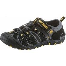 Dockers Sandály černá-žlutá