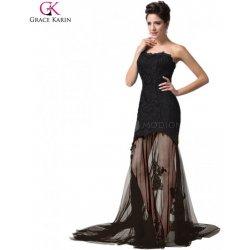 caacf87ce477 Grace Karin krajkové dlouhé společenské šaty CL6129-2 černá ...