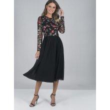 Chi chi London společenské šaty s výšivkou Fatima černá 06ff38572f