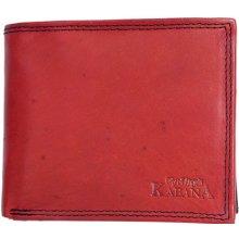 Pánská kožená červeno peněženka Kabana černá