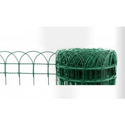 Dekorační pletivo (ZN+PVC), ZELENÉ - výška 90 cm, role 10 m