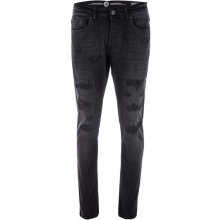 Eto Mens EM594 Tapered Fit Stretch Jeans Black