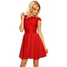 932220eb016 Numoco dámské společenské šaty krajkové červená