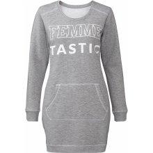 Esmara dámské mikinové šaty šedá 379316de69