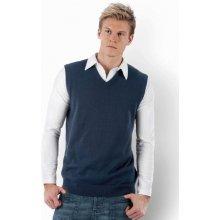 Kariban Pánská pletená vesta s výstřihem do V