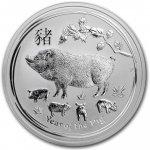 Lunární série II. stříbrná mince 8 AUD Year of the Pig Rok vepře 5 Oz 2019
