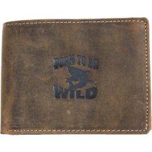 Born to be wild kožená peněženka z pevné kůže se žralokem