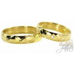 Zlate Snubni Prsteny Ryte 0047 Od 4 900 Kc Heureka Cz