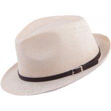 Smetanový pánský klobouk Mes 80002