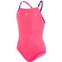 757a60fa9f Dívčí plavky Speedo Sports Logo růžové