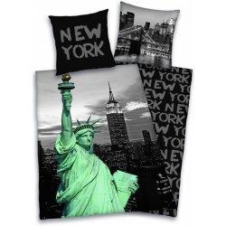 Povlečení a ložní prádlo HERDING Povlečení New York Socha Svobody Bavlna 135x200 80x80