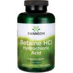 Swanson Betain HCl Hydrochloric Acid s Pepsinem 250 kapslí