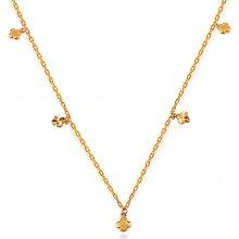 f214bb92c iZlato Forever Zlatý náhrdelník se čtyřlístky IZ14982