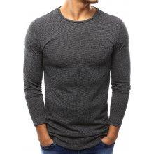 Pánský antracitový melanž svetr (wx0989)
