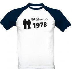 Trička k narozeninám tričko s potiskem Blíženci 1978 pánské Modrá a bílá d24efa0dac