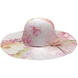 5f807eb3361 Bleskovynakup.cz Dámský letní slaměný klobouk květinový více variant růžová