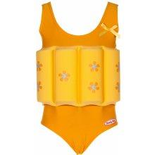 Beverly Kids Dívčí nadnášející plavky s kytičkami - žluté