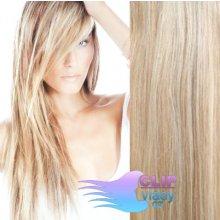 Clip in vlasy REMY - melír popelavě a beach blond #18/613