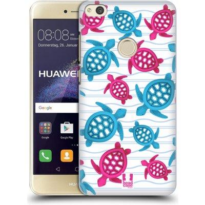 Pouzdro HEAD CASE Huawei P8 LITE 2017 vzor mořský živočich želva modrá a růžová