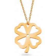 d5bbb1e54 iZlato Forever Zlatý náhrdelník Celebrity se čtyřlístkem IZ12109L