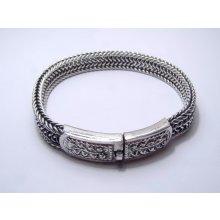 BROK Stříbrný náramek patina RN00305