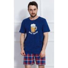 Velké pivo pánské pyžamo krátké hnědé