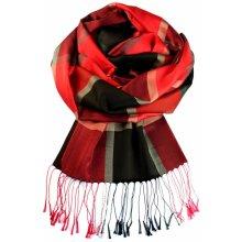 ee3690c055 Amalfi hedvábný šál červená
