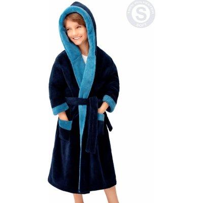 Chlapecký soft dvoubarevný župan Delfino blue Envie granát modrá