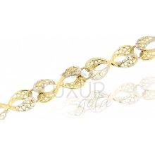 Briline zlatý náramek 1440576-5-18-0