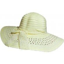 Jenifer SK-1422W-Dots Dámský slaměný klobouk s mašlí a puntíky krémový abd8a65284