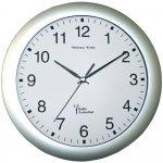 CONRAD Nástěnné analogové hodiny DCF, stříbrné, 30 - 672667