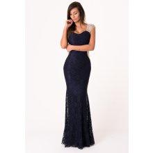 fa7ccbc23963 Soky Soka dámské společenské šaty dlouhé tmavě modrá