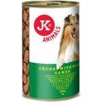 JK Animals masová konzerva pro psy se zvěřinou 1230 g