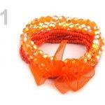 Stoklasa Dětský náramek z korálků 1 oranžová mrkvová