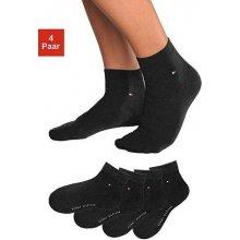 Tommy Hilfiger Krátké ponožky 4 páry černá