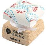 RaE krémový deodorant Cashmere s ručně malovaným víčkem bílo-červená 15 ml