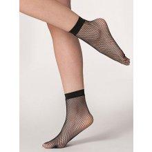Síťované ponožky s malými oky černé C82466
