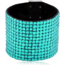 Shine bižuterní třpytivý barevný náramek světlemodrý TN026