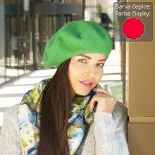 051db49915c Karpet dámský baret vlněný červený