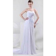 Bílé svatební šaty s korzetem a flitry