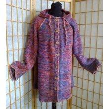 Kabátek s kapucí barevný